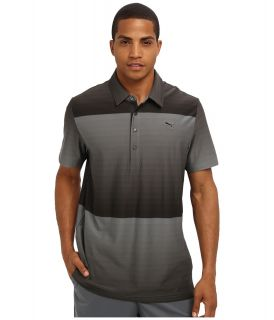 PUMA Golf Ombre Stripe Polo Mens Short Sleeve Pullover (Gray)