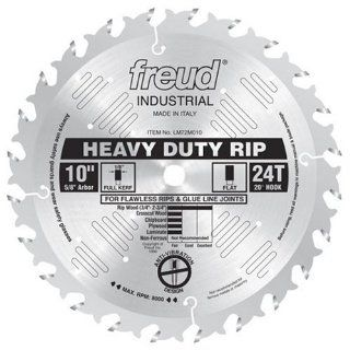Freud LM72M010 Industrial Heavy Duty Rip Saw Blade 10 Inch by 24t Flat Top 5/8 Inch arbor Ice Coated   Power Saw Blades