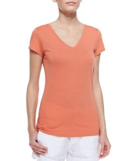 Womens Pima Cotton Short Sleeve Tee   Vince   Cayenne (X SMALL)