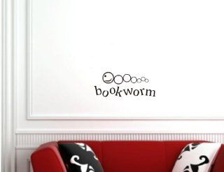 Bookworm Vinyl wall art Inspirational quotes and saying home decor decal sticker   Wall Banners