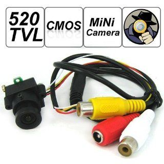 SecurityIng   520 TV Lines MC495 1/3 Inch CMOS Image Sensor Mini Covert Color CCTV Surveillance Security Camera, 3.6mm F2.0/90 Degrees View Angle Lens, Support Video and Audio Output, for Hidden Audio & Video Surveillance Security Camera  Spy Cameras