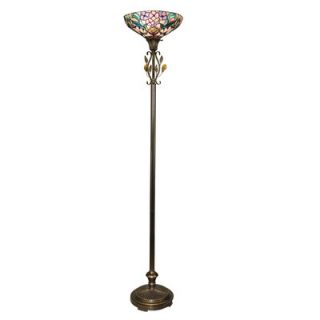Dale Tiffany Crystal Peony Torchiere Floor Lamp