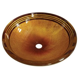 Kingston Brass Fauceture EVSPFB Napoli Round Glass Vessel Sink   Amber Bronze
