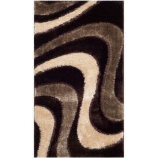 Safavieh Miami Shag Brown/Beige Rug