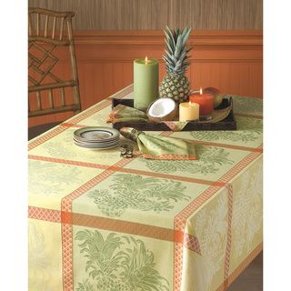 Tommy Bahama Cotton Pineapple Jacquard Tablecloth
