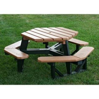 Recycled Plastic Hex ADA Commercial Grade Picnic Table