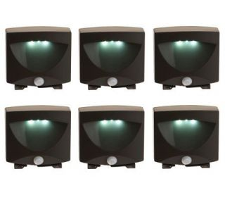 Set of 6 Battery Operated Motion Activate LED Lights —