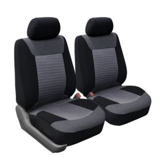 Oxgord 4 Piece Two Toned Cloth Seat Cover Set for Two Automotive Front