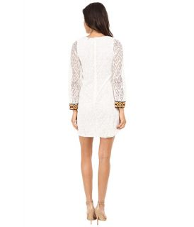 Tbags Los Angeles Crochet Lace Long Sleeve Shift Dress