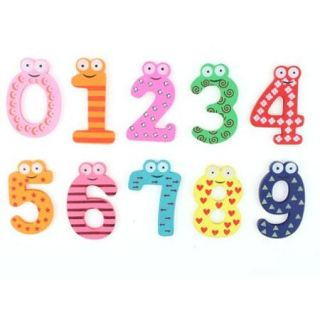 10 Pcs Animal Shaped Magnetic Base Arabic Number Whiteboard Fridge Magnets