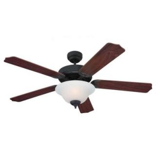 Sea Gull Lighting Quality Max Plus 52 in. Weathered Iron Indoor Ceiling Fan 15030BLE 07