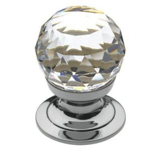 Baldwin 3/4 in. Swarovski Faceted Crystal Polished Chrome Round Cabinet Knob 4332.260.S