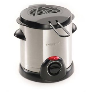 Presto Stainless Steel Electric Deep Fryer   1.06 Quart Oil   Stainless Steel (05470)