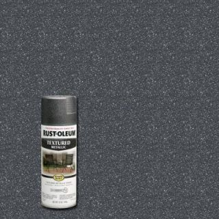 Rust Oleum Stops Rust 12 oz. Protective Enamel Excalibur Metallic Textured Spray Paint (Case of 6) 262658