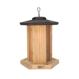 NatureS Way Cedar  Triple chamber bird feeder   Outdoor Living
