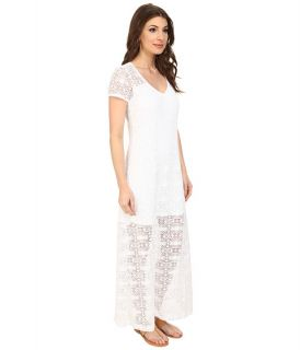 Tommy Bahama Crochet Lace Long T Shirt Dress Cover Up