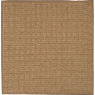 Recife Saddle Stitch Cocoa Rug (86 Square)   15115820
