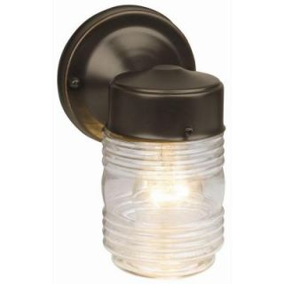 Design House Oil Rubbed Bronze Outdoor Wall Mount Jelly Jar Wall Light 505198