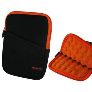 7 inch Universal Tablet Sleeve Pouch   roocase Super Bubble Neoprene Carrying Case Cover for iPad Mini 3 2 1, Kindle Fire HD 6 7, GALAXY Tab 3 / Tab 4 7.0 8.0, Google Nexus 7 2014, Orange