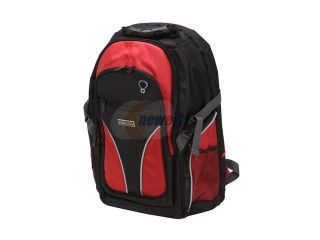 "Open Box Kingwin Black/Red 15.4"" Notebook Backpack Model KLB 7735"