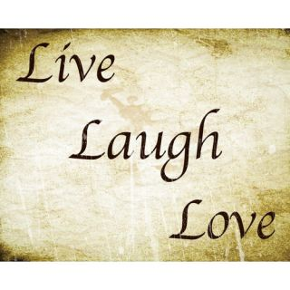 Live Laugh Love Removable Wall Decal by Secretly Designed