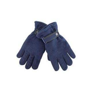 Luxury Divas Navy Blue Polar Fleece Men's Thermal Insulated Gloves
