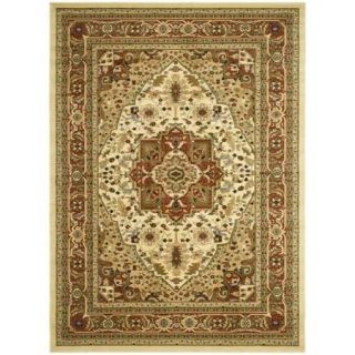 Safavieh Lyndhurst Collection Ivory/ Rust Rug (4' x 6')