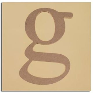 "Pack of 2 Decorative Expressive Unfinished Wood Lower Case Letter ""g"""