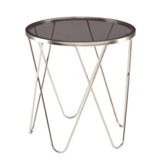 Southern Enterprises Harbor Nesting Round Satin Metal End Table (Set of 3) HD090115