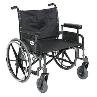Drive Medical Sentra Extra Wide Heavy Duty Wheelchair, Detachable Full Arms, 26 Seat