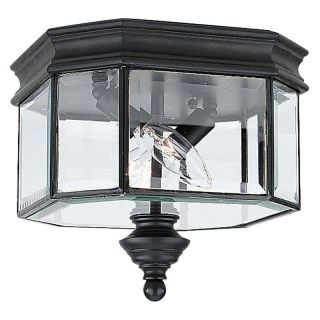 Sea Gull Hill Gate Outdoor Ceiling Light   9H in. Black   Outdoor Ceiling Lights
