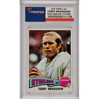 Terry Bradshaw Pittsburgh Steelers 1975 Topps #461 Card