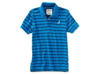 Aeropostale Mens Pigeon Stripes Rugby Polo Shirt 679 XS