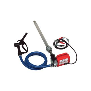 Fill-Rite Diesel Fuel Transfer Pump with Suction Pipe and Discharge Hose — 12 Volt, 10 GPM, Model# FR1616  DC Powered Fuel Pumps