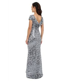 Calvin Klein Scoop Neck Lace Gown