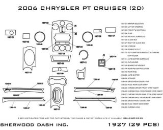 2006 2010 Chrysler PT Cruiser Wood Dash Kits   Sherwood Innovations 1927 N50   Sherwood Innovations Dash Kits