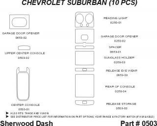 1997, 1998, 1999 Chevy Suburban Wood Dash Kits   Sherwood Innovations 0503 N50   Sherwood Innovations Dash Kits