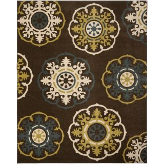 Safavieh Newbury Snowfall Brown/ Blue Rug (8 x 10)   14645912