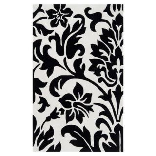 Surya Cosmopolitan White and Black Rug