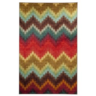 Mohawk Home Painted Zig Zag Multicolor Rectangular Indoor Tufted Area Rug (Common 5 x 8; Actual 60 in W x 96 in L x 0.5 ft Dia)