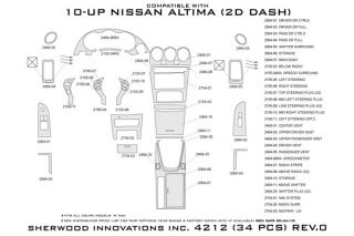 2008 2012 Nissan Altima Wood Dash Kits   Sherwood Innovations 4212 R   Sherwood Innovations Dash Kits