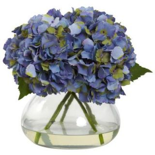 Nearly Natural Large Blooming Hydrangea with Vase 1357 BL