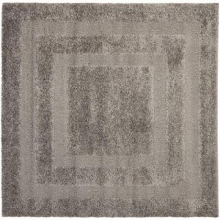Safavieh Shadow Box Shag Grey 6 ft. 7 in. x 6 ft. 7 in. Square Area Rug SG454 8080 7SQ