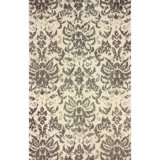 nuLOOM Transitional Damask Microfiber Brown Rug (5 x 8)   15870497