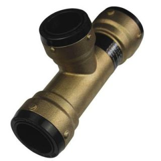 SharkBite 1 1/2 in. x 1 1/2 in. x 1 1/4 in. Brass Push to Connect Reducer Tee SB03414135