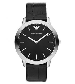 EMPORIO ARMANI   AR1741 stainless steel and leather watch