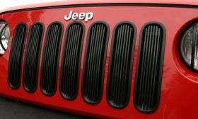 2007 2016 Jeep Wrangler Bar Billet Grilles   Rugged Ridge 11401.30   Rugged Ridge Grille Inserts