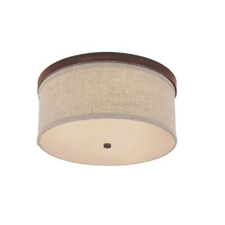 Capital Lighting Midtown Collection 3 light Burnished Bronze Flush