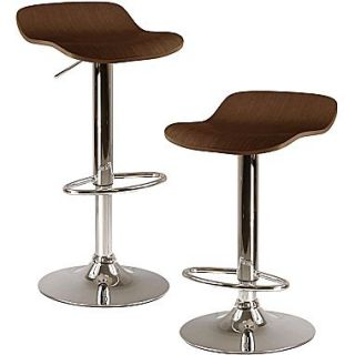 Winsome Kallie Wood Adjustable Air Lift Stool, Dark Cappuccino