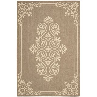 Safavieh Indoor/ Outdoor Courtyard Brown/ Creme Rug (710 x 10